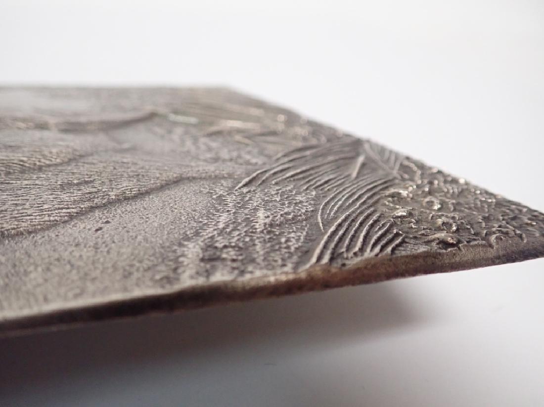 19th Century Silver Over Bronze Plaque - 8