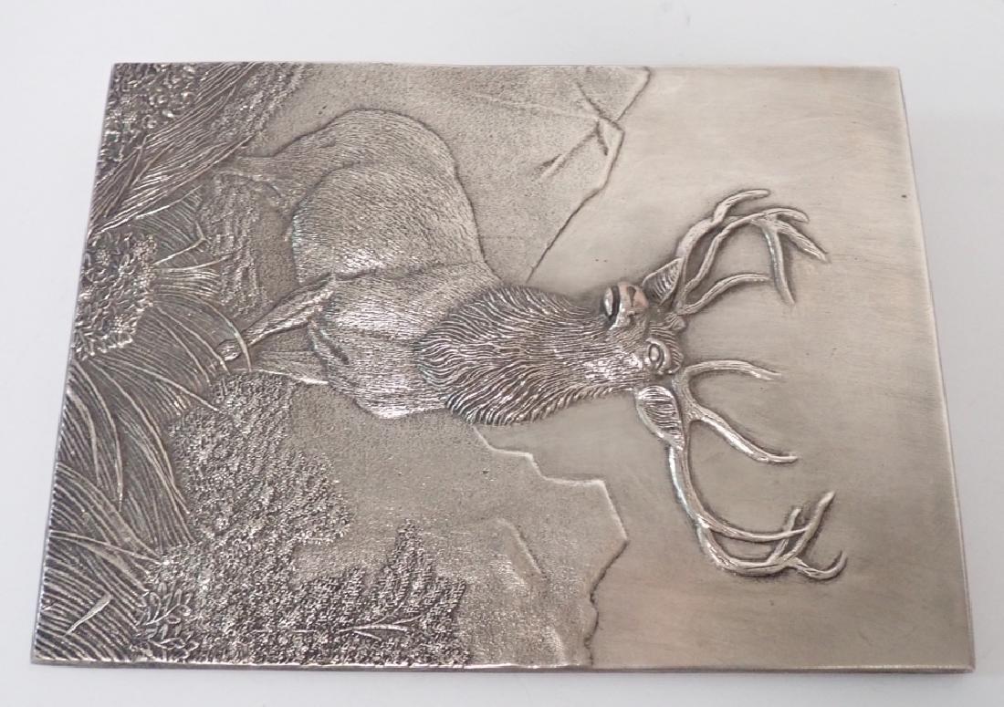19th Century Silver Over Bronze Plaque - 9