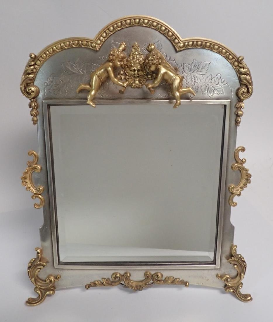 Silver and Gilt Mirror, American circa 1880