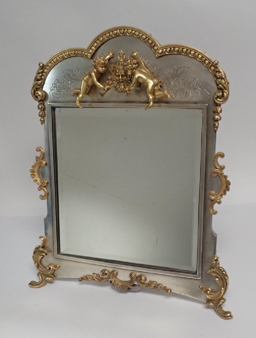 Silver and Gilt Mirror, American circa 1880 - 2