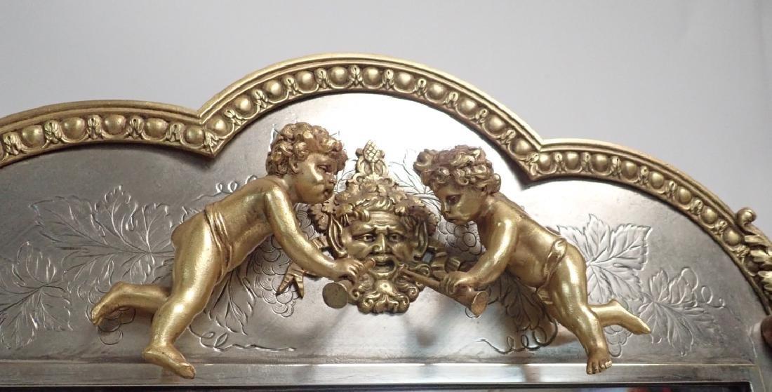 Silver and Gilt Mirror, American circa 1880 - 3