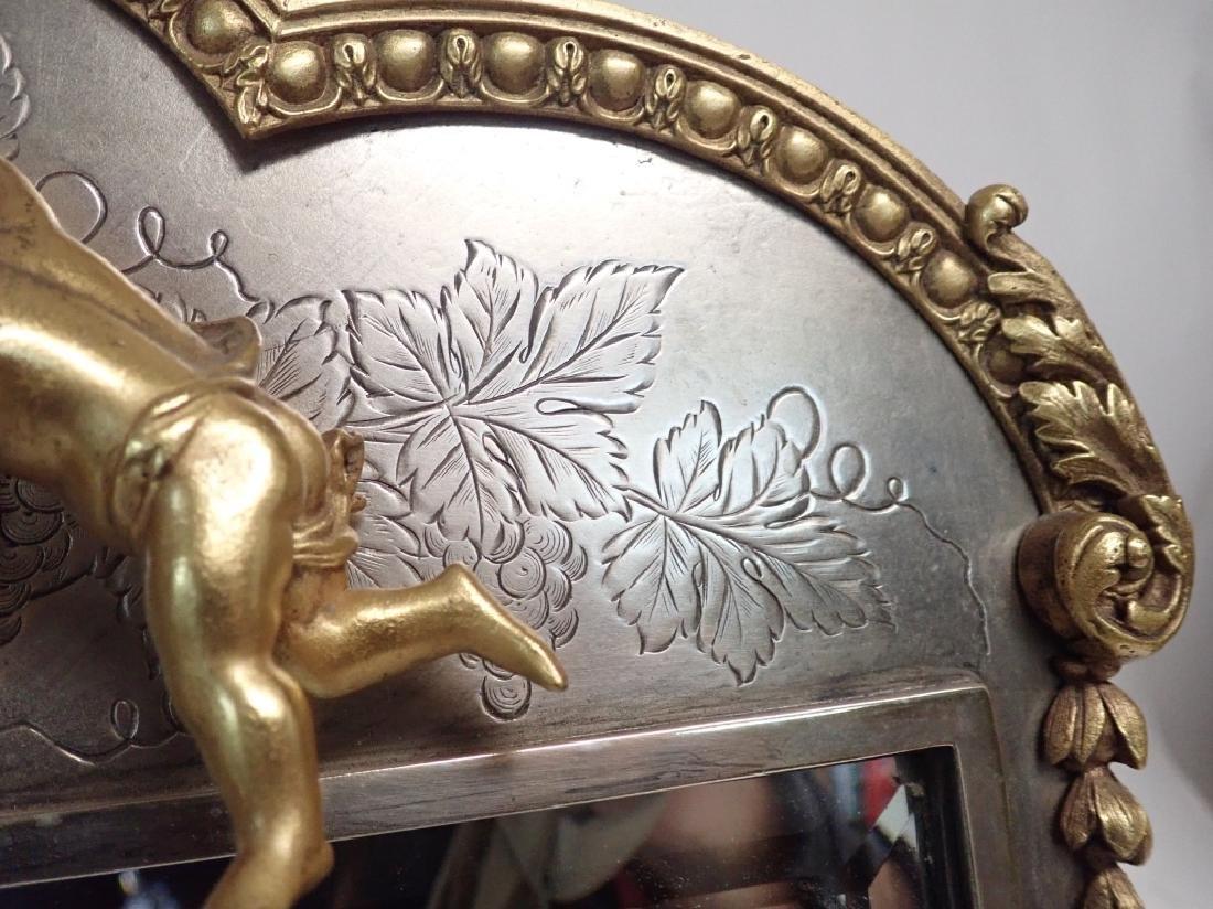 Silver and Gilt Mirror, American circa 1880 - 4
