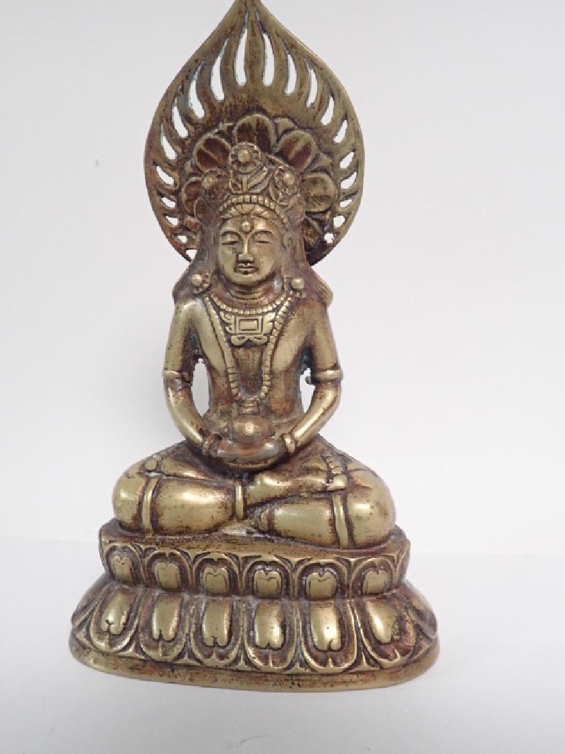 Chinese Bronze Buddha - 9