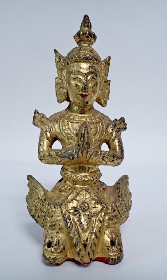 19th Century Gilt and Painted Asian Deity