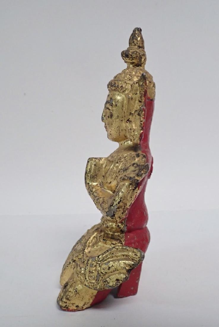 19th Century Gilt and Painted Asian Deity - 3