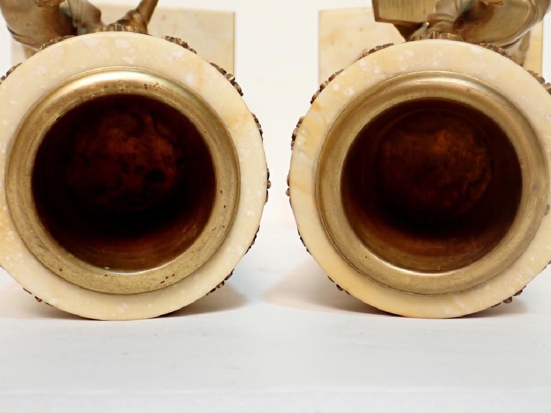 Antique Austrian Bronze Mounted Marble Vases - 10