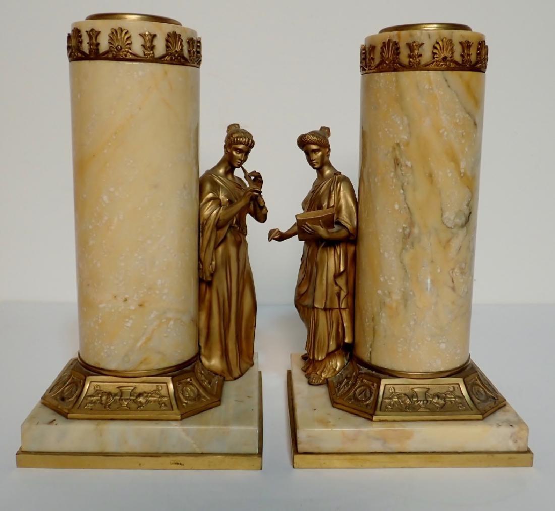 Antique Austrian Bronze Mounted Marble Vases - 2