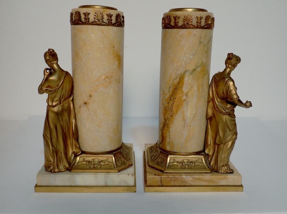 Antique Austrian Bronze Mounted Marble Vases - 4