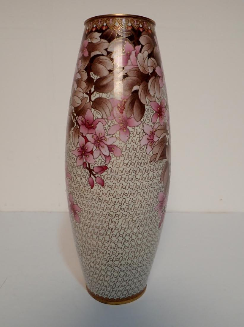 Chinese Cloisonne Vase with Floral Motif