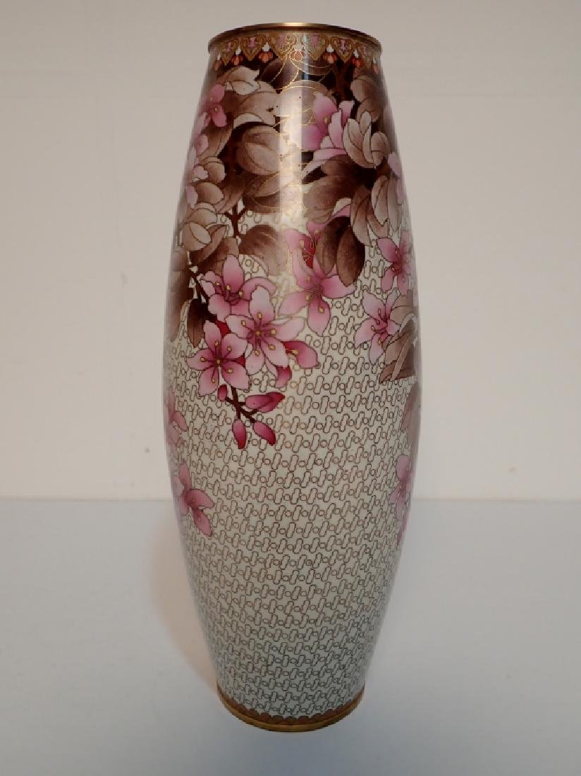 Chinese Cloisonne Vase with Floral Motif - 3