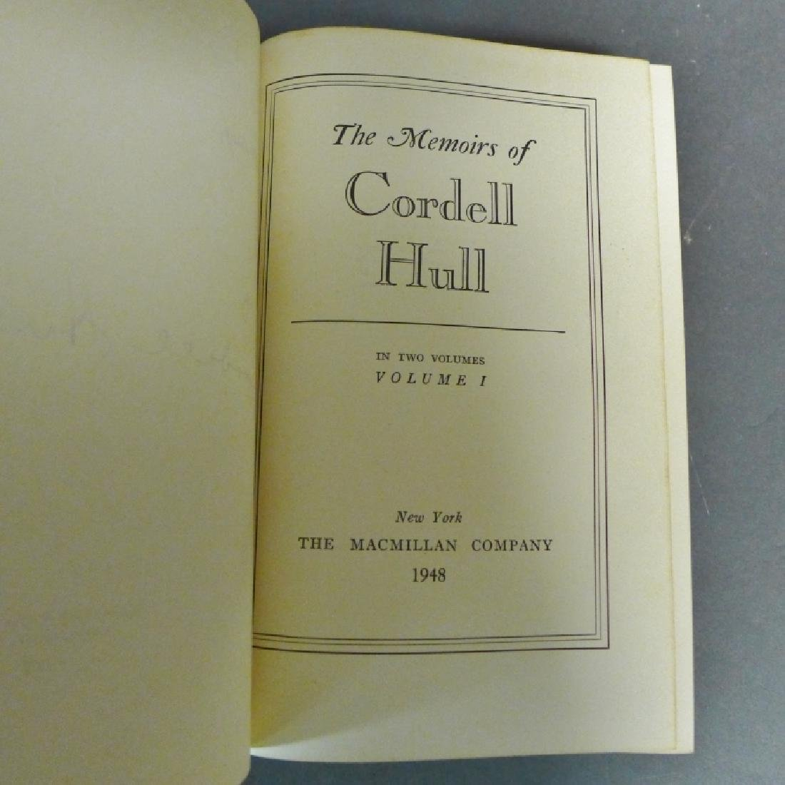"""The Memoirs of Cordell Hull,"" Signed 1st Edition - 5"