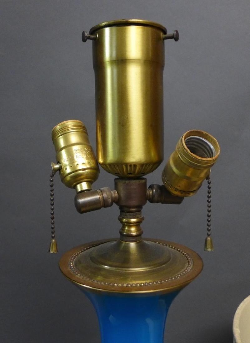 Blue Opaline Glass Lamp - 10