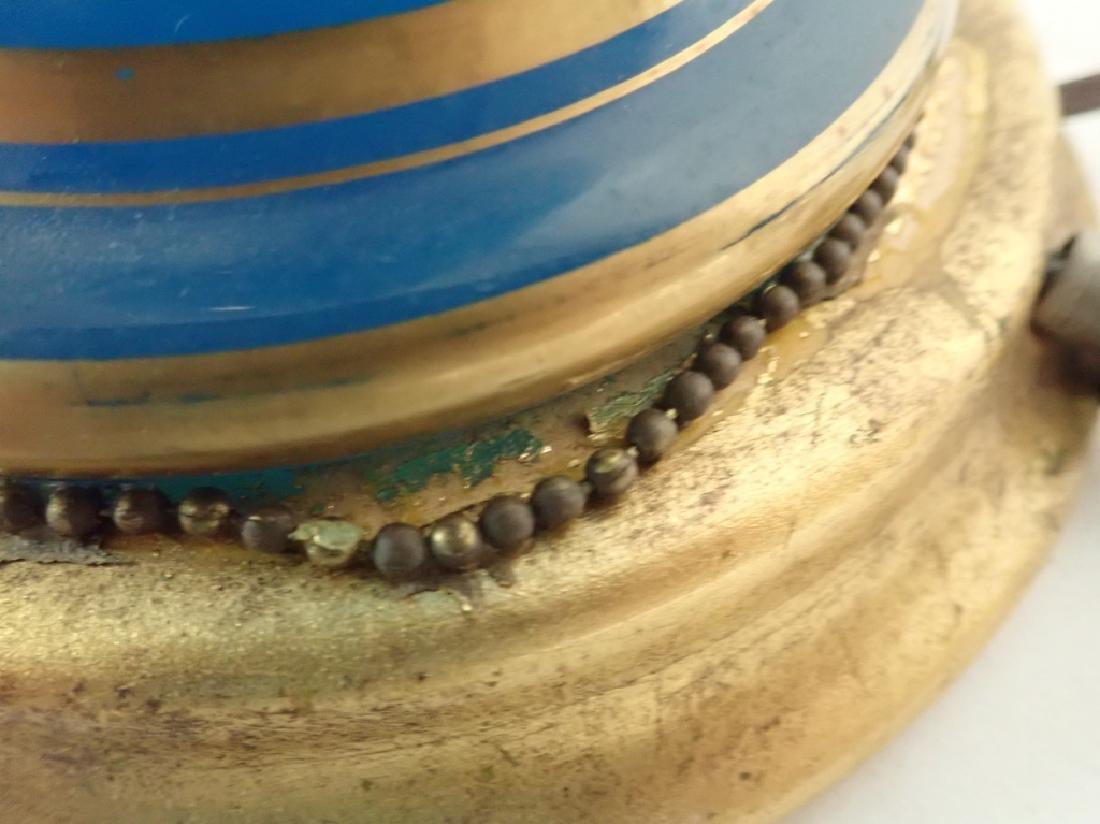 Blue Opaline Glass Lamp - 9