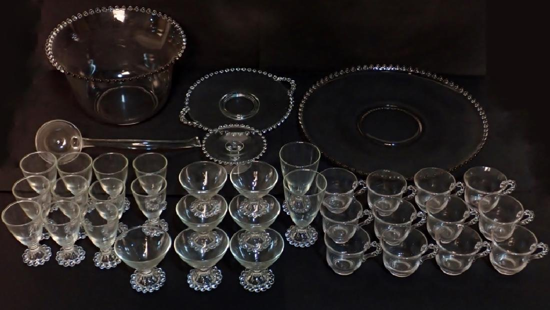 Assortment of Bubble Glass Serving Ware