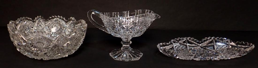 Group of Three Cut Crystal Vessels