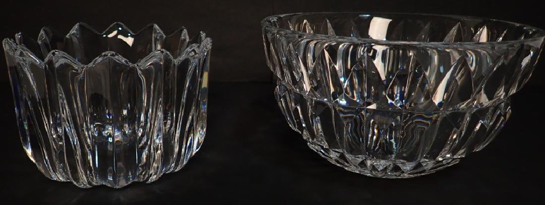 Pair of Two Signed Cut Crystal Bowls