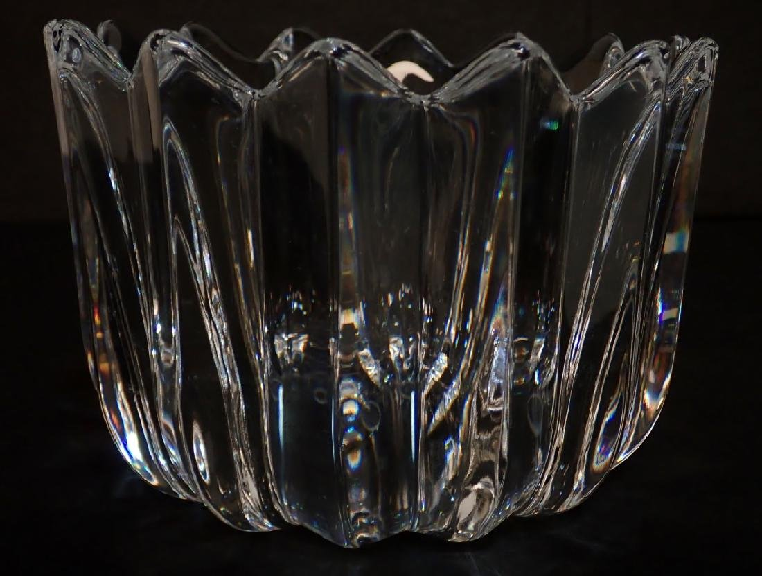 Pair of Two Signed Cut Crystal Bowls - 4