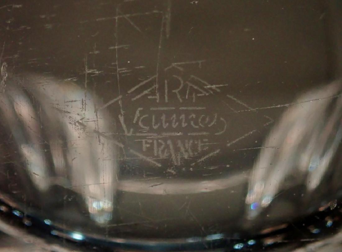 Art Vannes France Fluted Crystal Basket Vase - 5
