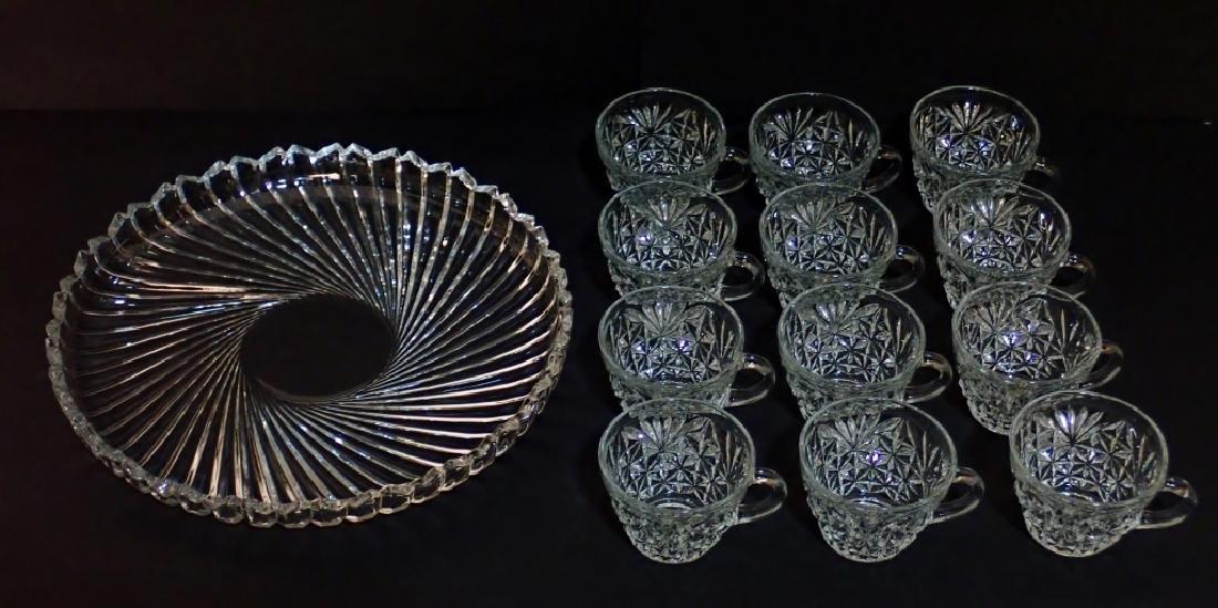 Cut Crystal/Glass Tea Set with Tray