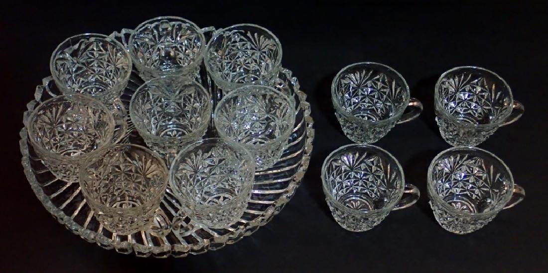 Cut Crystal/Glass Tea Set with Tray - 2