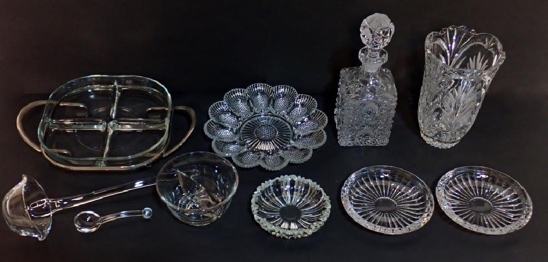 Grouping of Various Cut Crystal/Glass Accessories