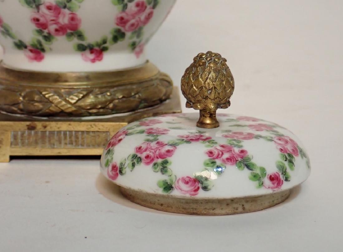 Continental Porcelain Bronze Mounted Vase - 10