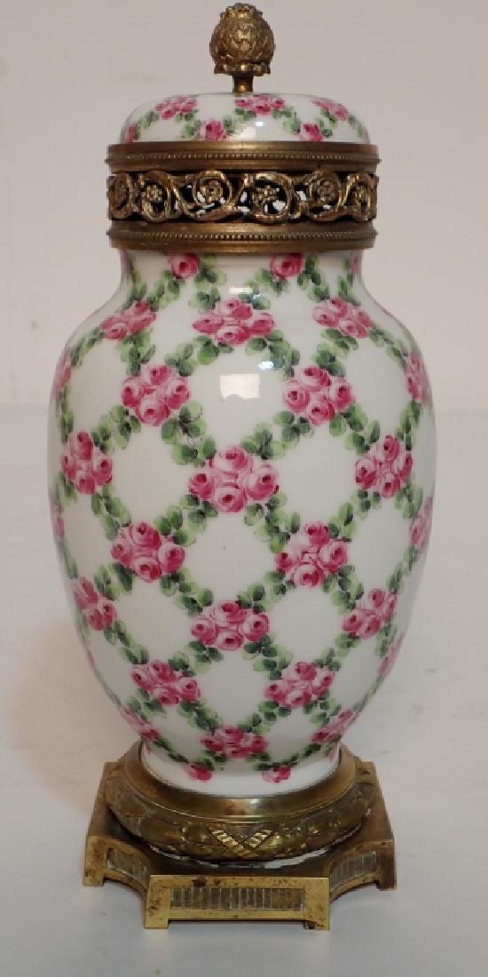 Continental Porcelain Bronze Mounted Vase