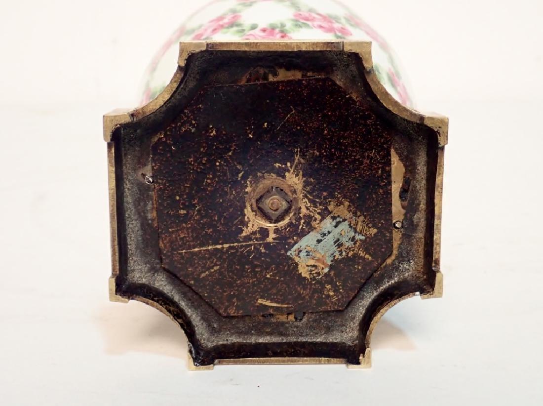 Continental Porcelain Bronze Mounted Vase - 8