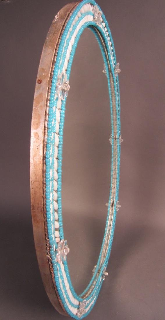Venetian Beaded Glass Mirror - 2