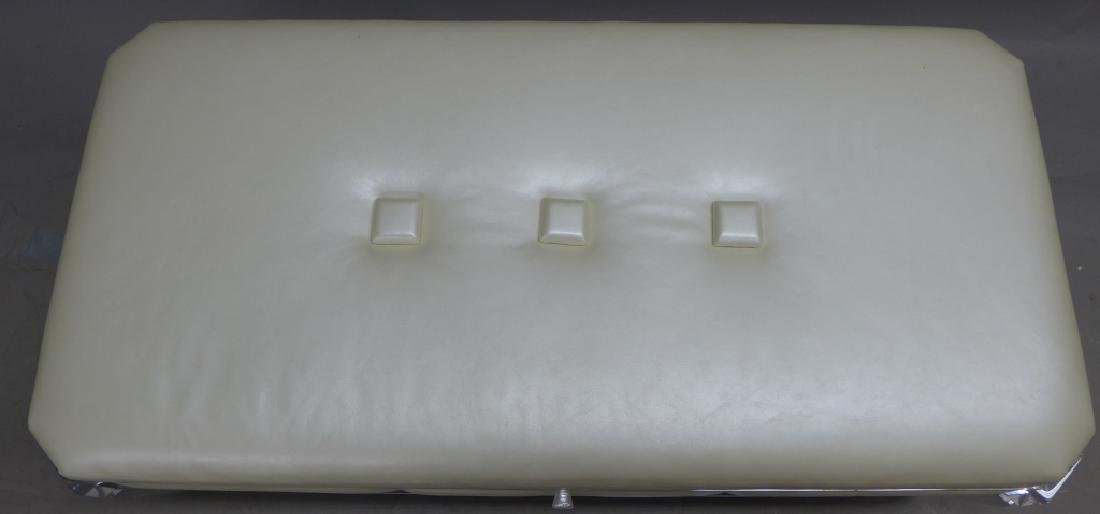 Modern Lucite Bench with Blonde Upholstered Seat - 8
