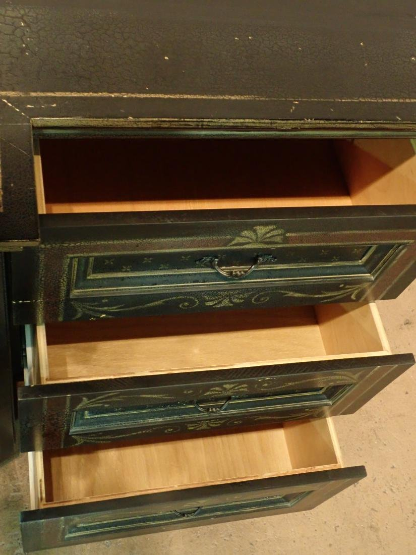 Large Painted Wood Media Console - 6