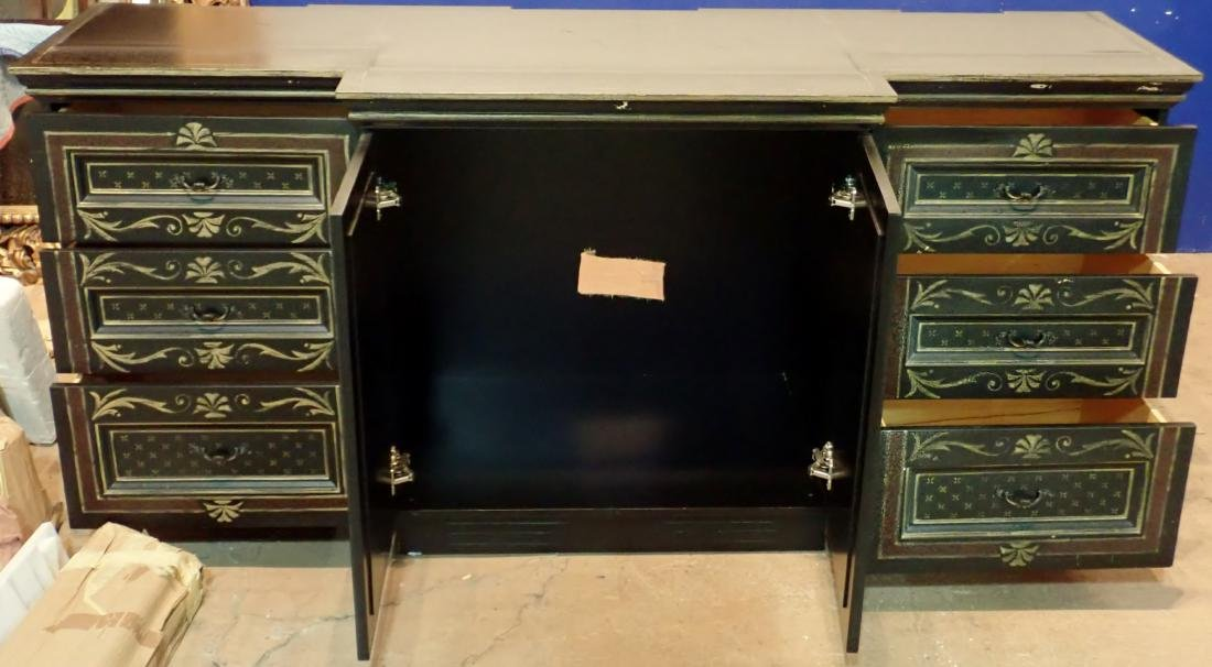 Large Painted Wood Media Console - 7