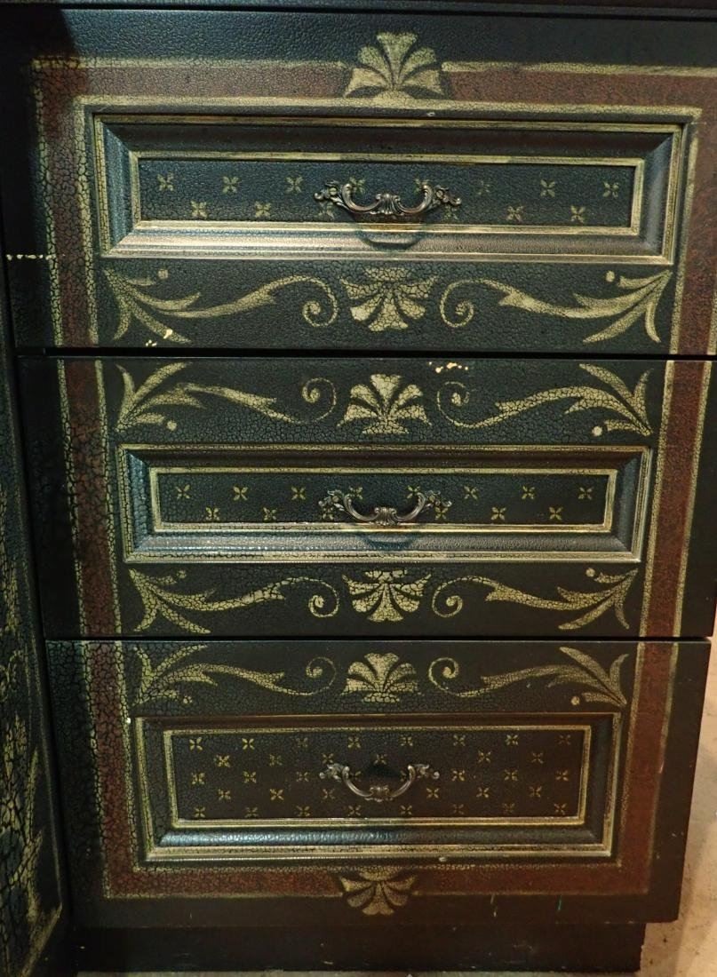 Large Painted Wood Media Console - 9