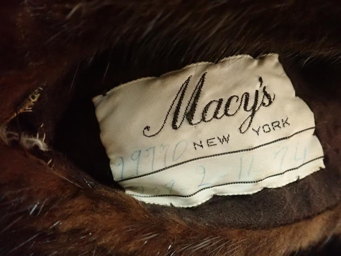 Vintage Macy's Little Shop Fur Coat - 9