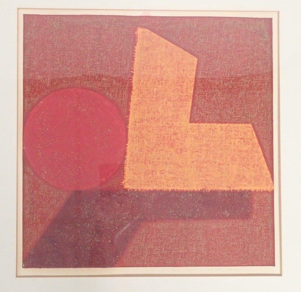 Natvar Bhavsar  (born 1934), Numbered Lithograph - 3