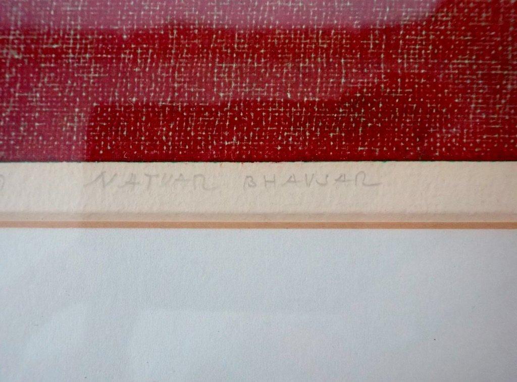 Natvar Bhavsar  (born 1934), Numbered Lithograph - 9