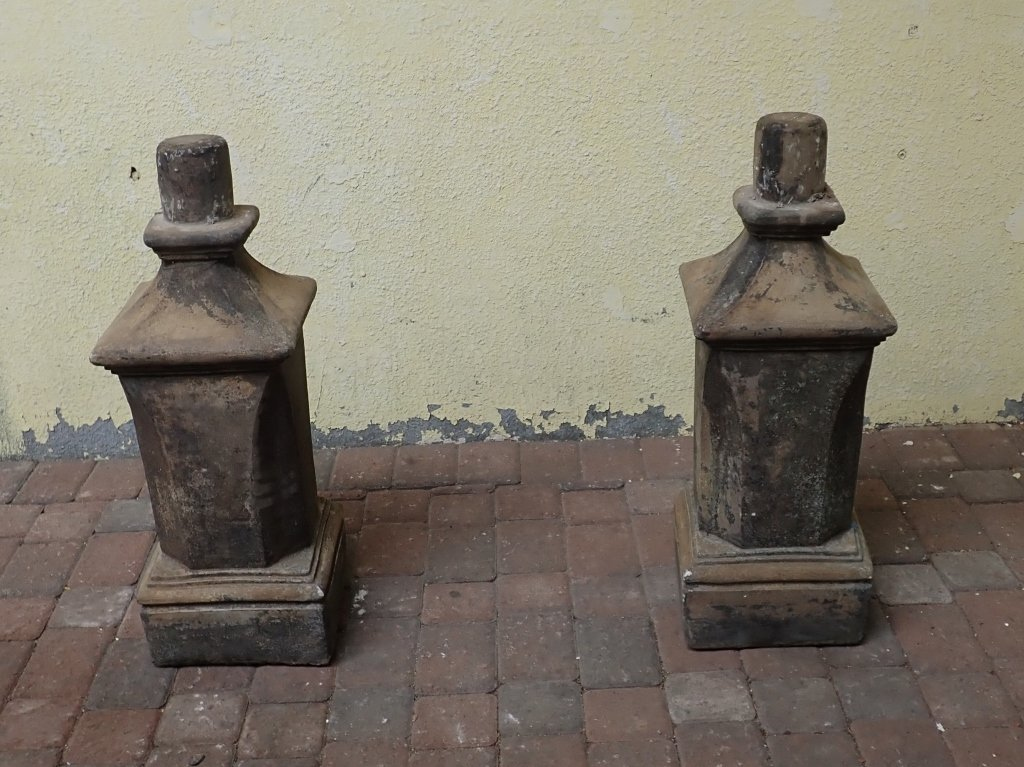 Pair of Winged Dragon Statues with Bases - 9
