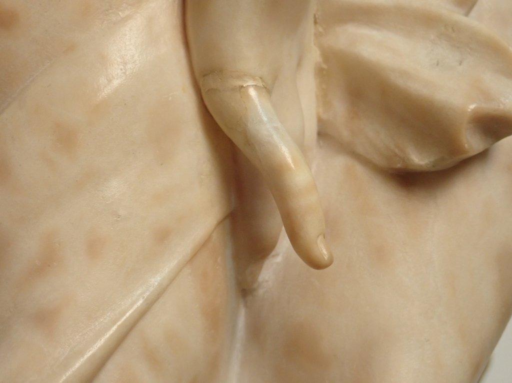 Art Nouveau Alabaster Statue Signed Prof. R Aurili - 6