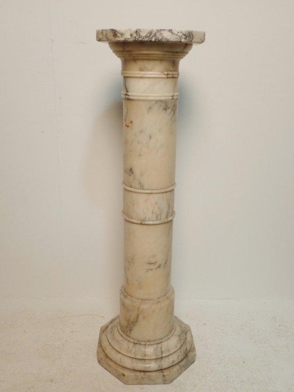 Art Nouveau Alabaster Statue Signed Prof. R Aurili - 9