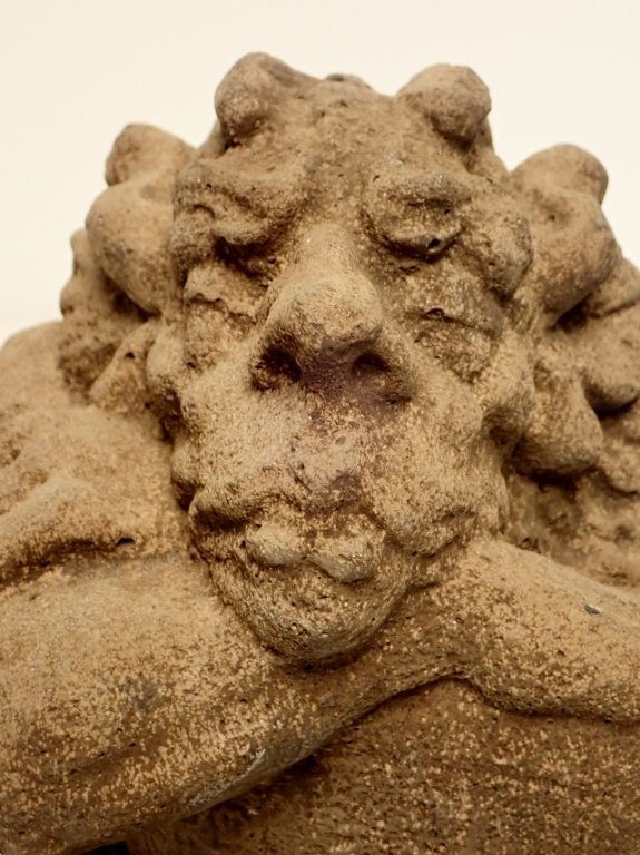 Sandstone Dragon Sculpture - 5