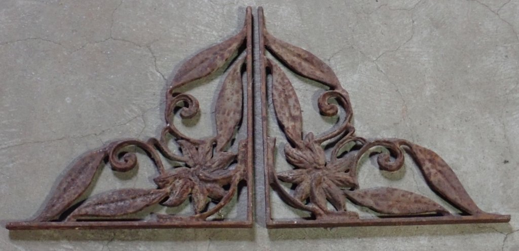 Pair of Architectural Steel Elements - 2