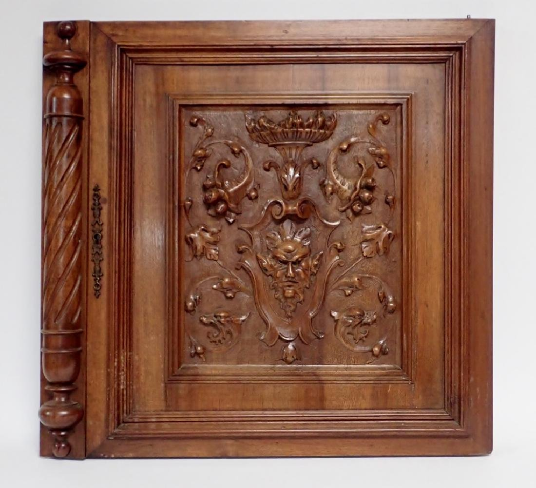 Carved Wooden Element with Figural Motif
