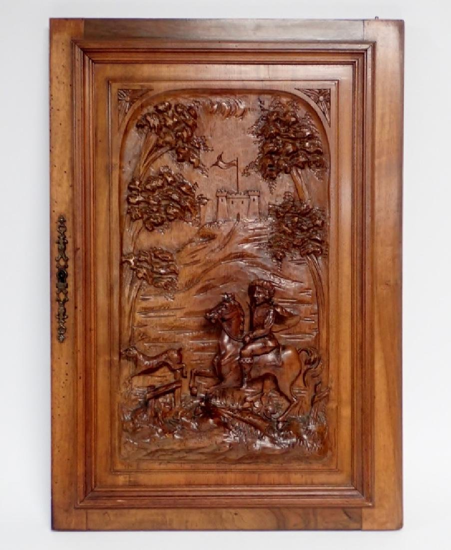 Carved Wooden Element with Horse Motif