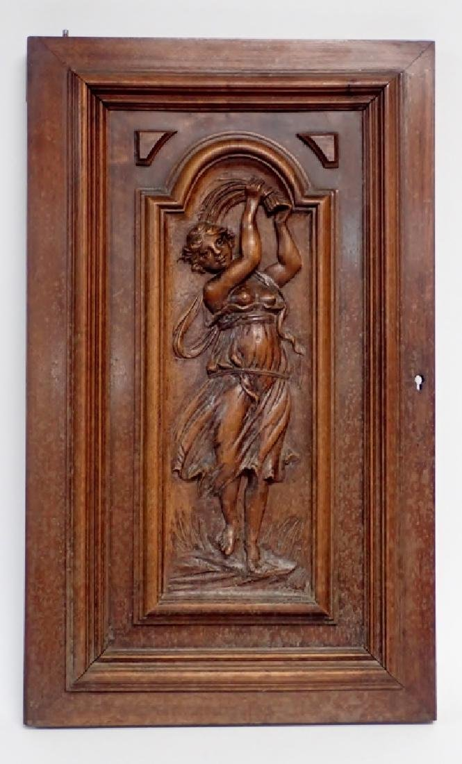 Wooden Carved Element with Figural Motif