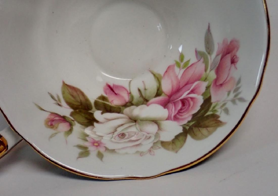 Group of Bone China Tea Cups and Saucers - 10