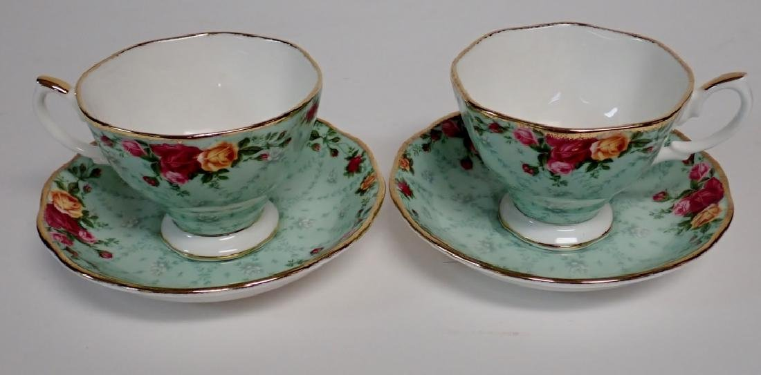 Group of Bone China Tea Cups and Saucers - 2