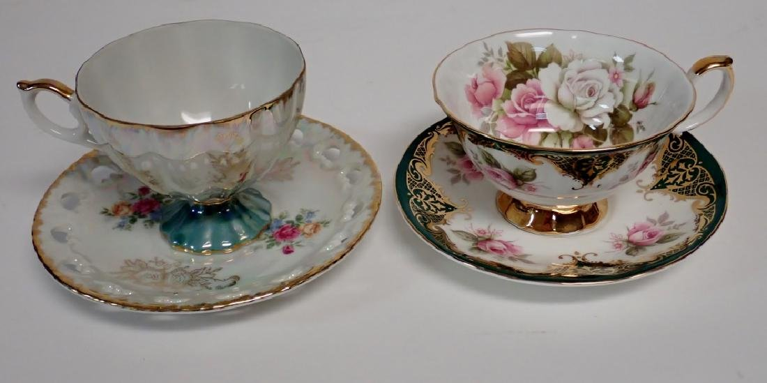 Group of Bone China Tea Cups and Saucers - 6
