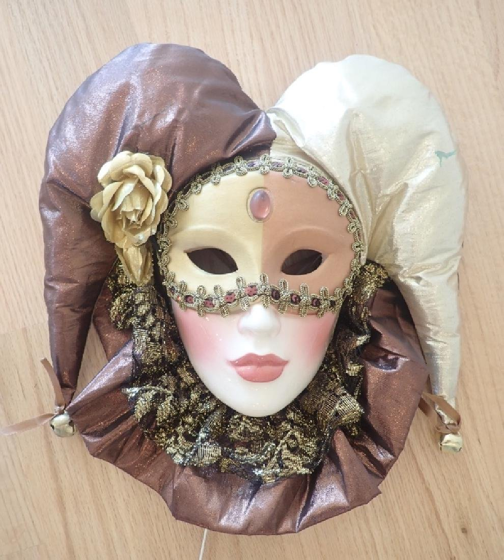 Collection of Venetian Style Masks & Dolls - 8