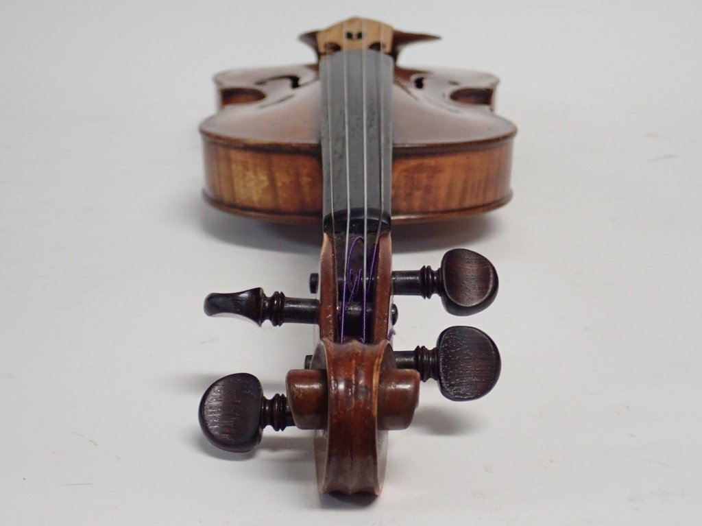 Antique Violin with Case and Four Bows - 5