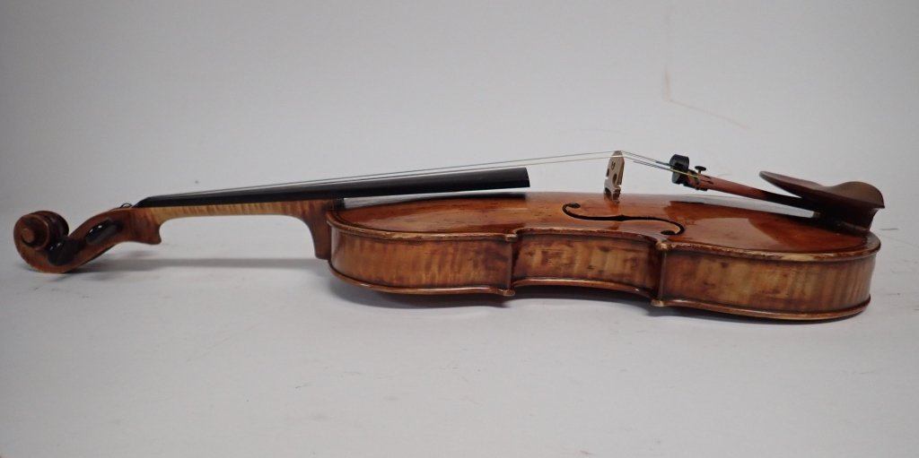 Antique Violin with Case and Four Bows - 7